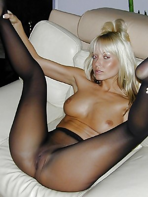 The ultimate tease Jana Cova is back to get you off in her black dress and black sheer crotch pantyhose.