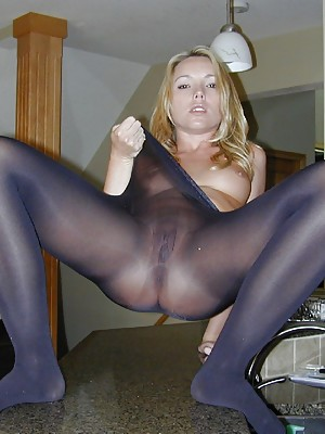 In her formal bodysuit, black tights, high heels and sparkly tie, Trisha Uptown scolds you for staring and jacking off to her.