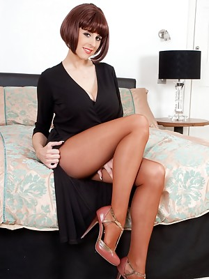 Delightful delicious Louise, and classy sheer to waist Fogal pantyhose